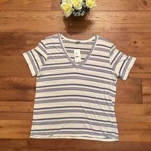 Splendid navy/white stripe top